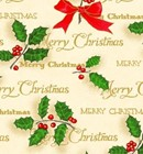 "Christmas Giftwrap ""Scripted Holly"""