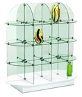 Oval Glass Etagere
