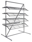 Chrome 8 Shelf Shoe Rack