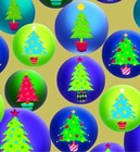 "Christmas Giftwrap ""Snow Globe Trees"""