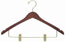 Contoured Combination Hanger w/Clips