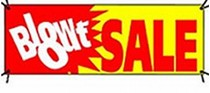 "Banner ""Blow-Out Sale"""