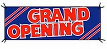 "Banner ""Grand Opening"""