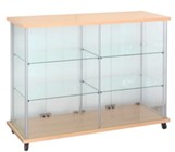 Glass Boutique Case With Casters