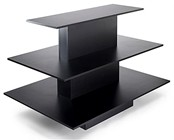 Rectangular 3-Tier Table Black