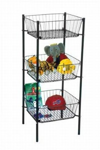 Three Tier Dump Bin | Floor Wire Displays