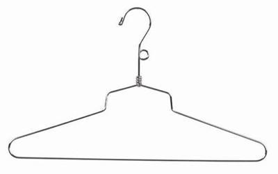 "18"" Dress/Shirt Hanger - Salesmans Hangers Metal"
