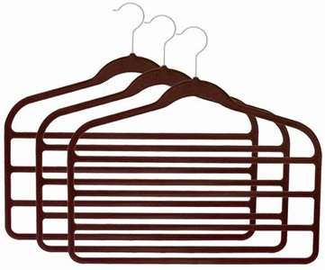 Slim-Line Chocolate Brown Multi Pant Hanger