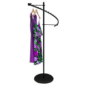 Black Spiral Clothing Rack