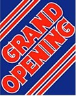 "Sign ""Grand Opening"""