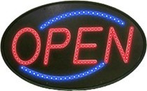 "LED Oval ""Open"" Sign"