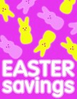 "Sign ""Easter Savings"""