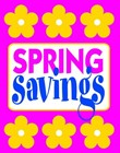 "Sign ""Spring Savings"""