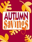 "Sign ""Autumn Savings"""