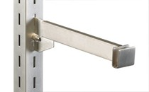 "Satin Nickel Hangrail Brackets 12""L"