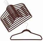 Slim-Line Chocolate Brown Shirt/Pant Hanger