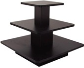 Square 3-Tier Table Black
